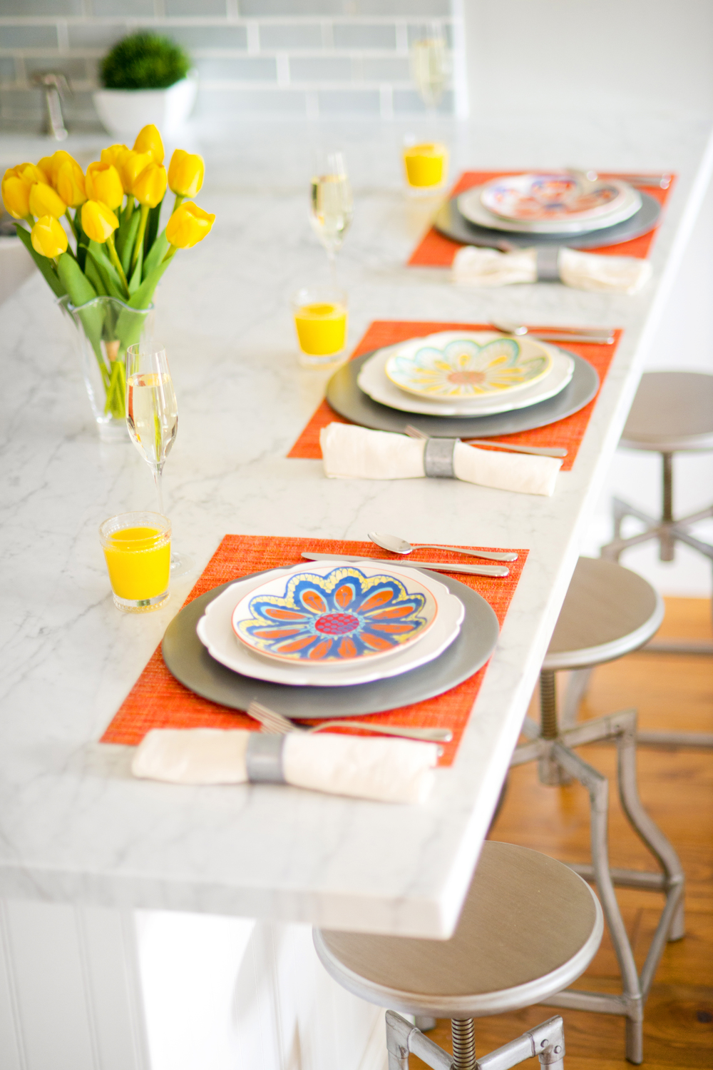 Sun-Kissed Spring Breakfast ~ Adoring and swooning over Crate & Barrel's bright colors for the season. All items were provided by Crate & Barrel.