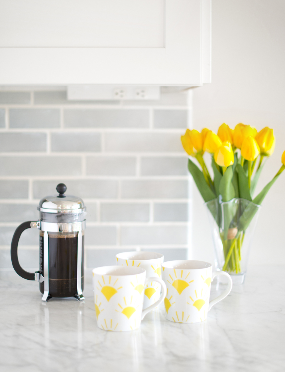 Sun-Kissed Spring Breakfast~ Serve your morning coffee in these adorable Sunrise mugs from Crate & Barrel!