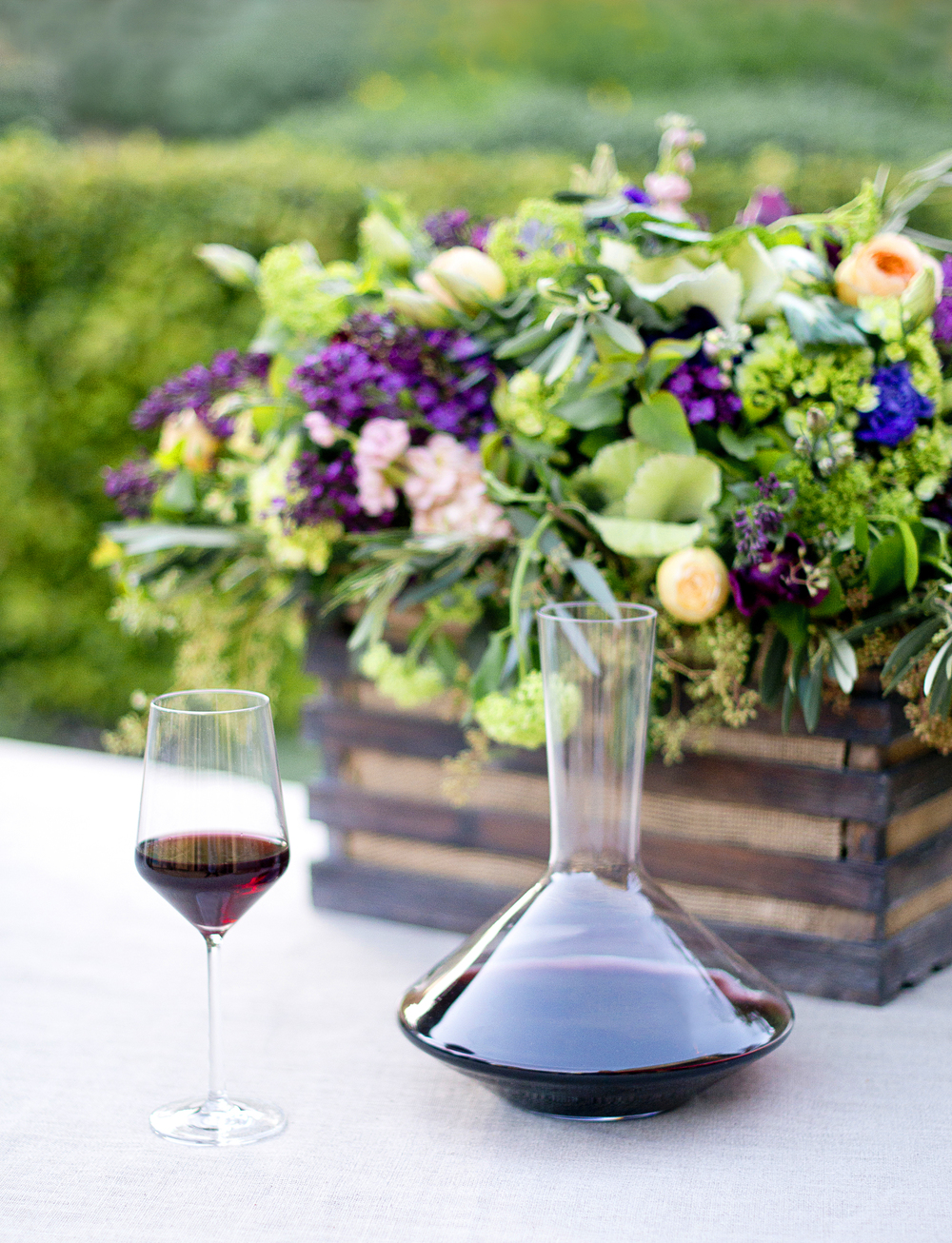 A Garden Wine Tasting party! I love tasting wines from Napa, California and comparing the various differences between wine makers.