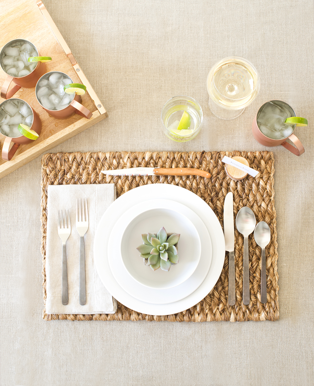 Crate & Barrel's Aspen Dinnerware 3 Ways- Rustic Table Setting