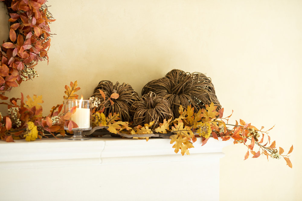 My Splendid Living- Rustic Fall Fireplace Inspiration! #cratestyle