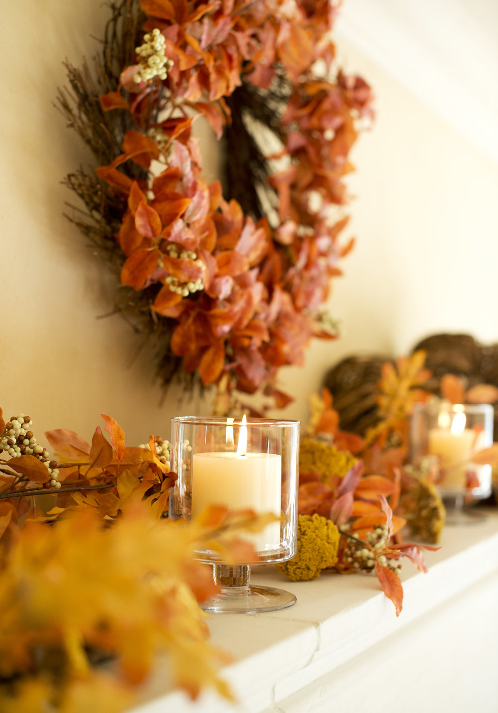 My Splendid Living- Rustic Fall Fireplace inspiration!