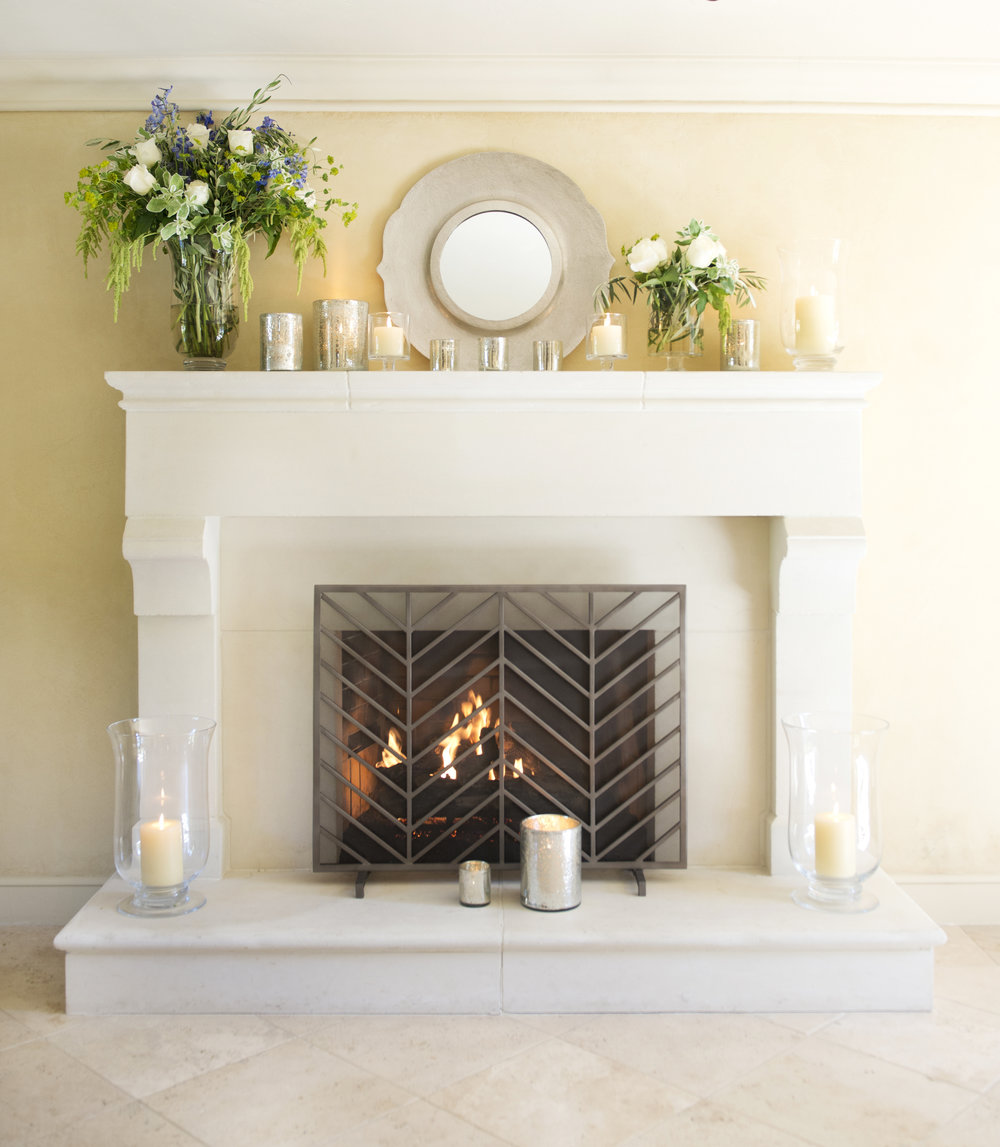 My Splendid Living partnered with Crate & Barrel for an Elegant Fireplace display! See all the details on the blog! #cratestyle