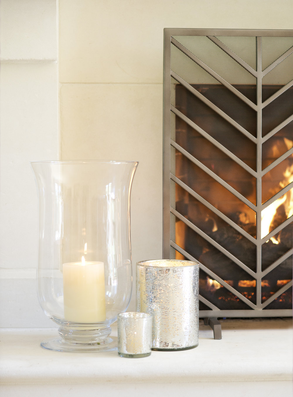 My Splendid Living has partnered with Crate & Barrel for an elegant Fireplace display! #cratestyle