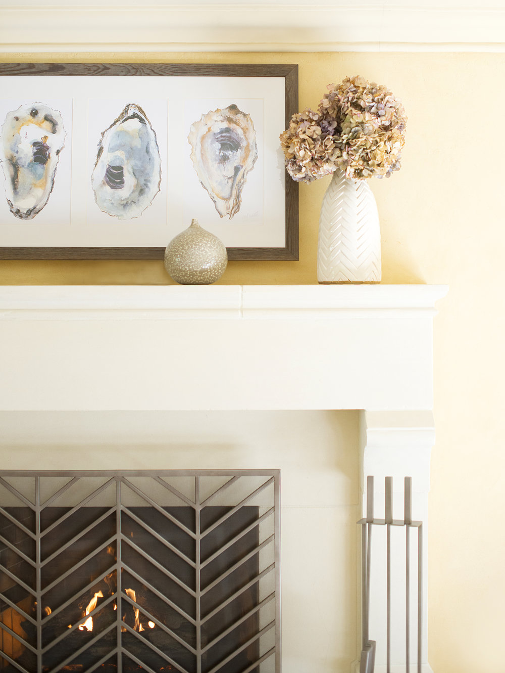 My Splendid Living has partnered with Crate & Barrel for a casual Fireplace display! #cratestyle