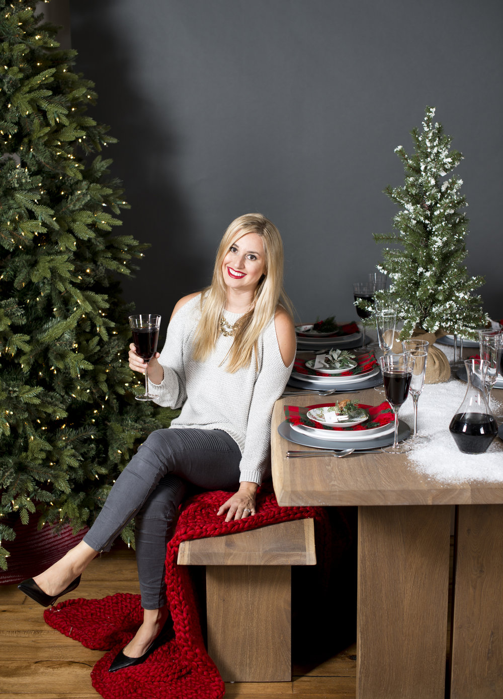 Christmas Table Setting decor