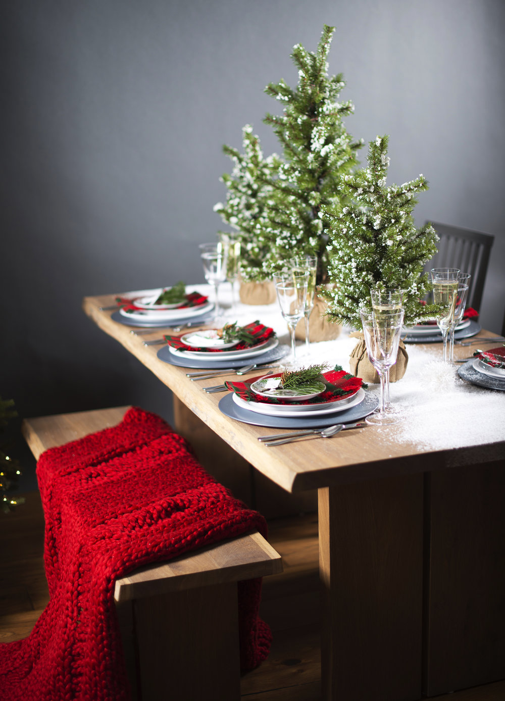 Christmas Tablescape with Crate & Barrel