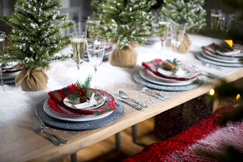 Christmas Table Setting Dinner Party