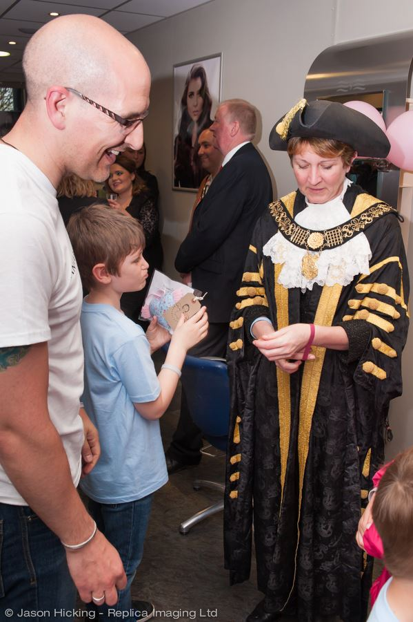 Simon and Will with the Mayor of Derby