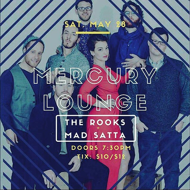 This Saturday we'll be back in NYC w/ @therooksband! #madsatta#therooks #nyc #mercurylounge