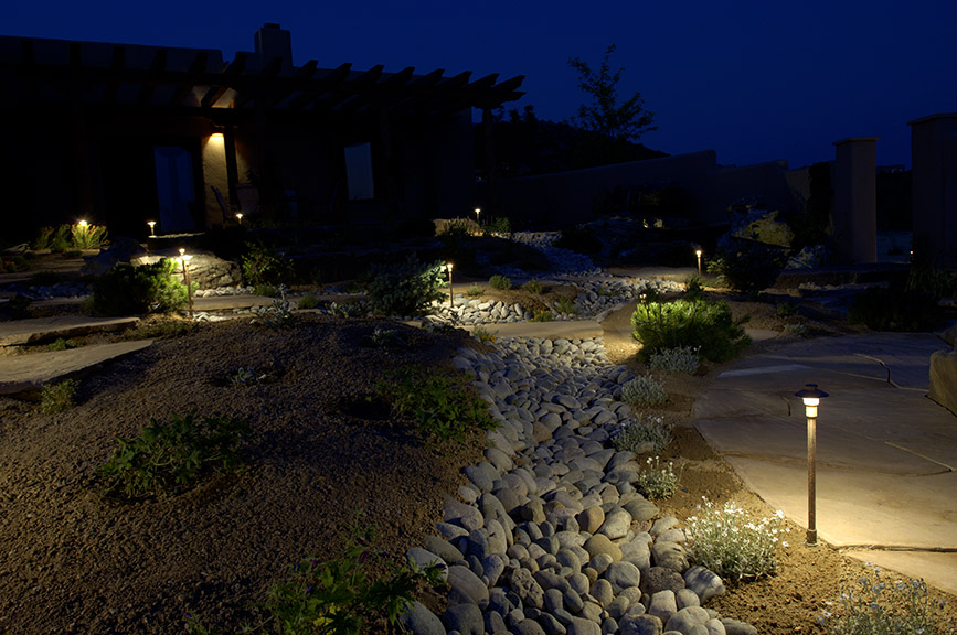 exterior landscape lighting design