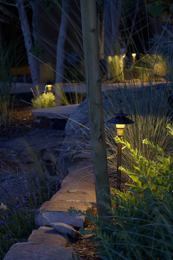 Exterior Landscape pathway lighting