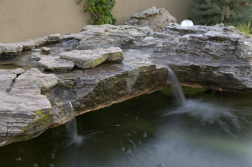 Waterfall and Pond Installation
