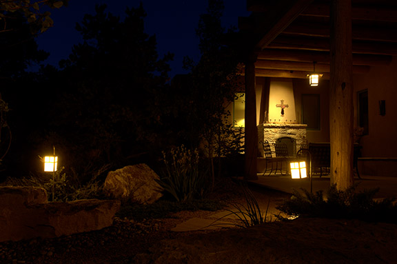 Patio Feature Wall Lighting
