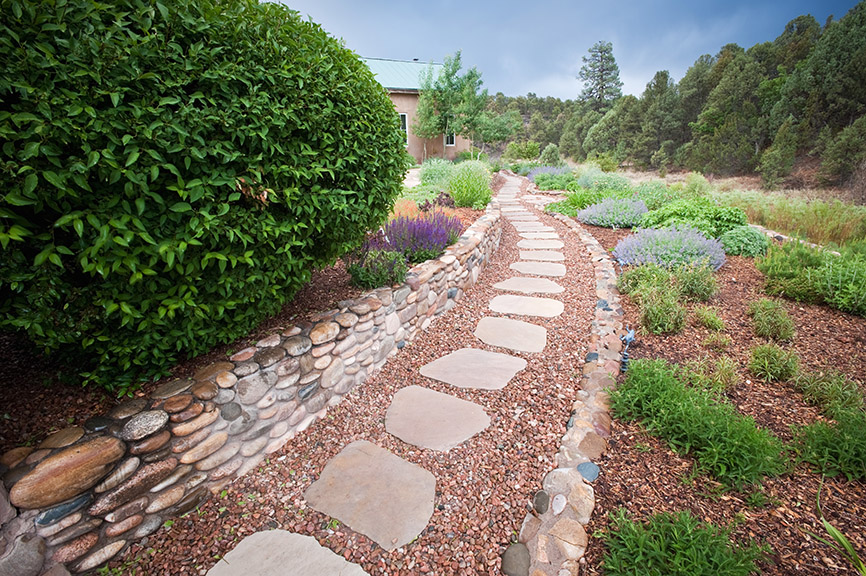 Stone Step Path Hardscape Design