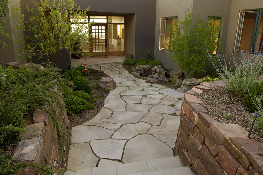Courtyard hardscape design