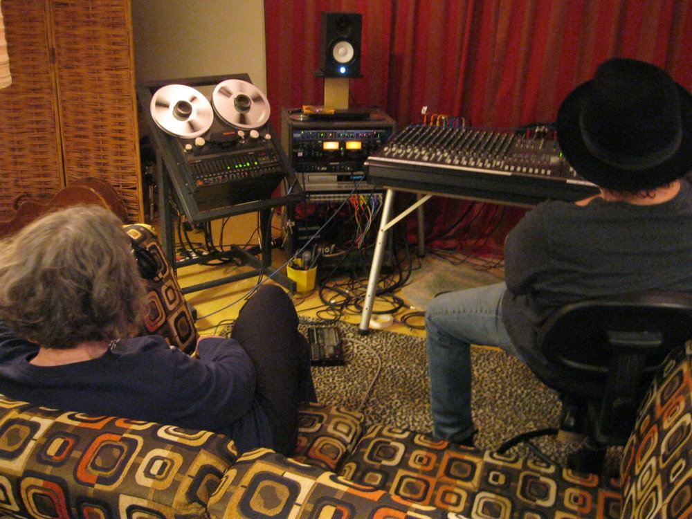 Listening to playback.