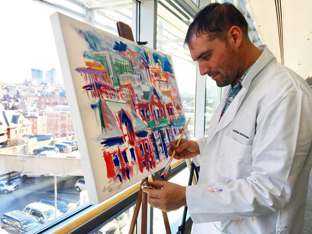 Jonathan the Painter - Artist In Residence at the MGH Cancer Center
