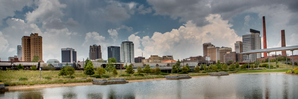 Birmingham Skyline Daytime Panorama