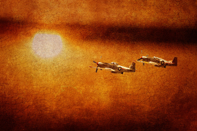 P-51 Mustangs at Sunset #1