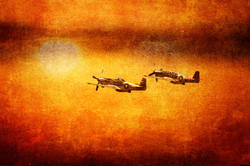 P-51 Mustangs at Sunset #2