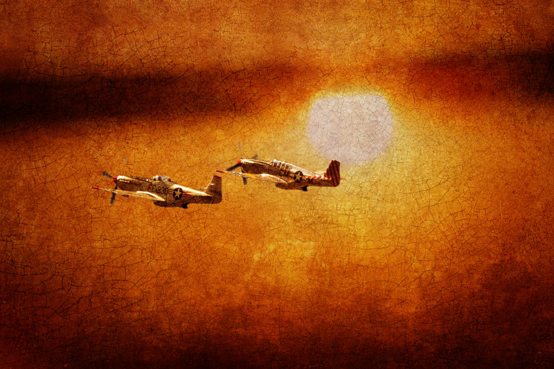 P-51 Mustangs at Sunset #6