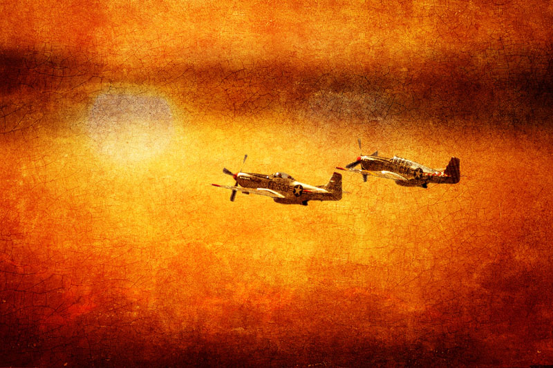 P-51 Mustangs at Sunset #7