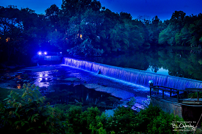 Helena Dam with Blue Lights