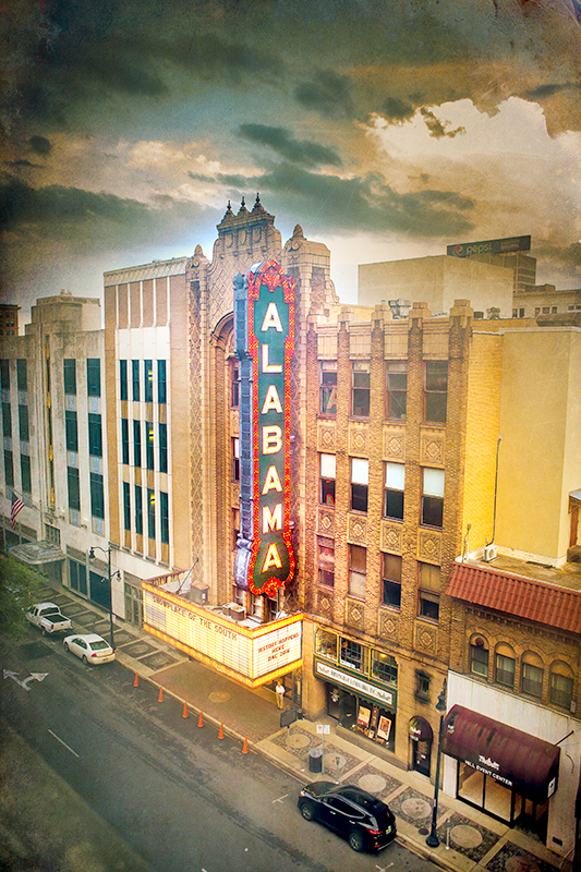 Alabama Theatre from the top of the Lyric Theatre