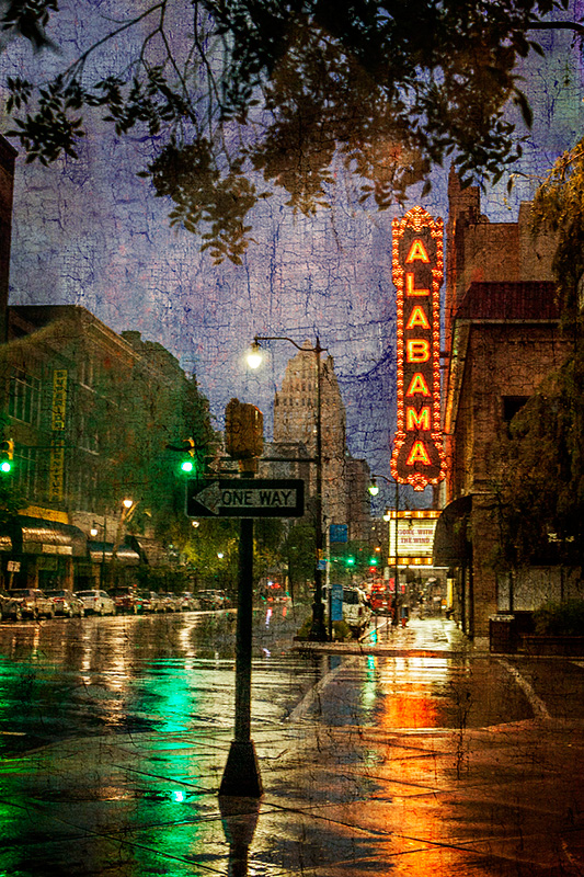 Alabama Theatre Wet Streets 2