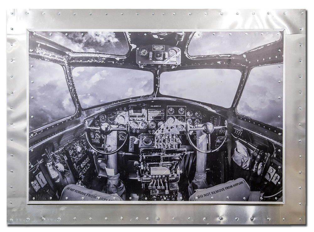 Cockpit of the B-17 Flying Fortress, the Nine-O-Nine