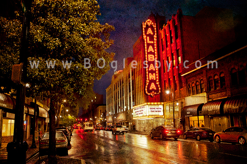 Alabama Theatre Wet Streets