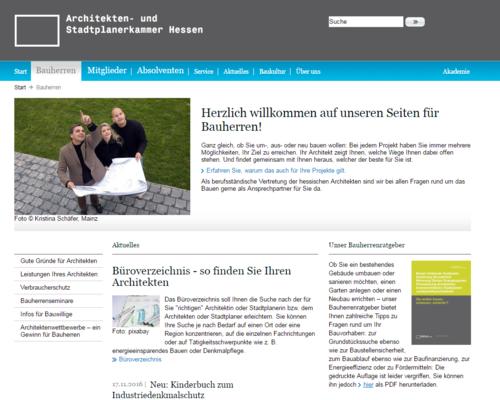 Architektenkammer Hessen - Bauherren