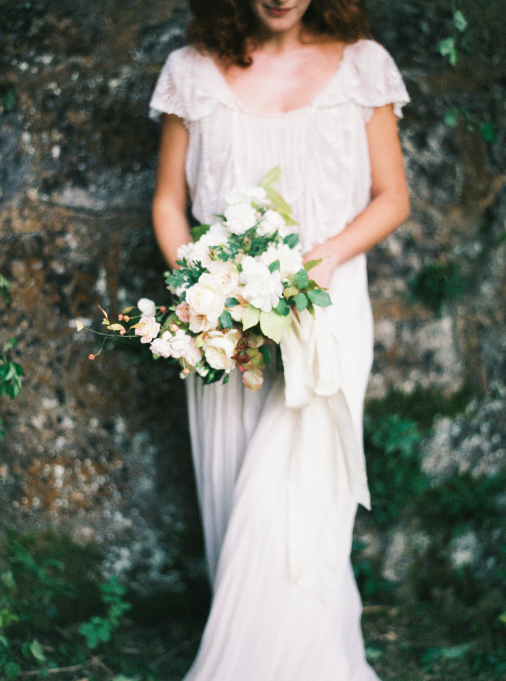 Photo by Tamara Gigola. European Workshop by Ginny Au. Inspirational bridal shoot. Flowers by Sara Winward, dress by Gossamer Vintage.