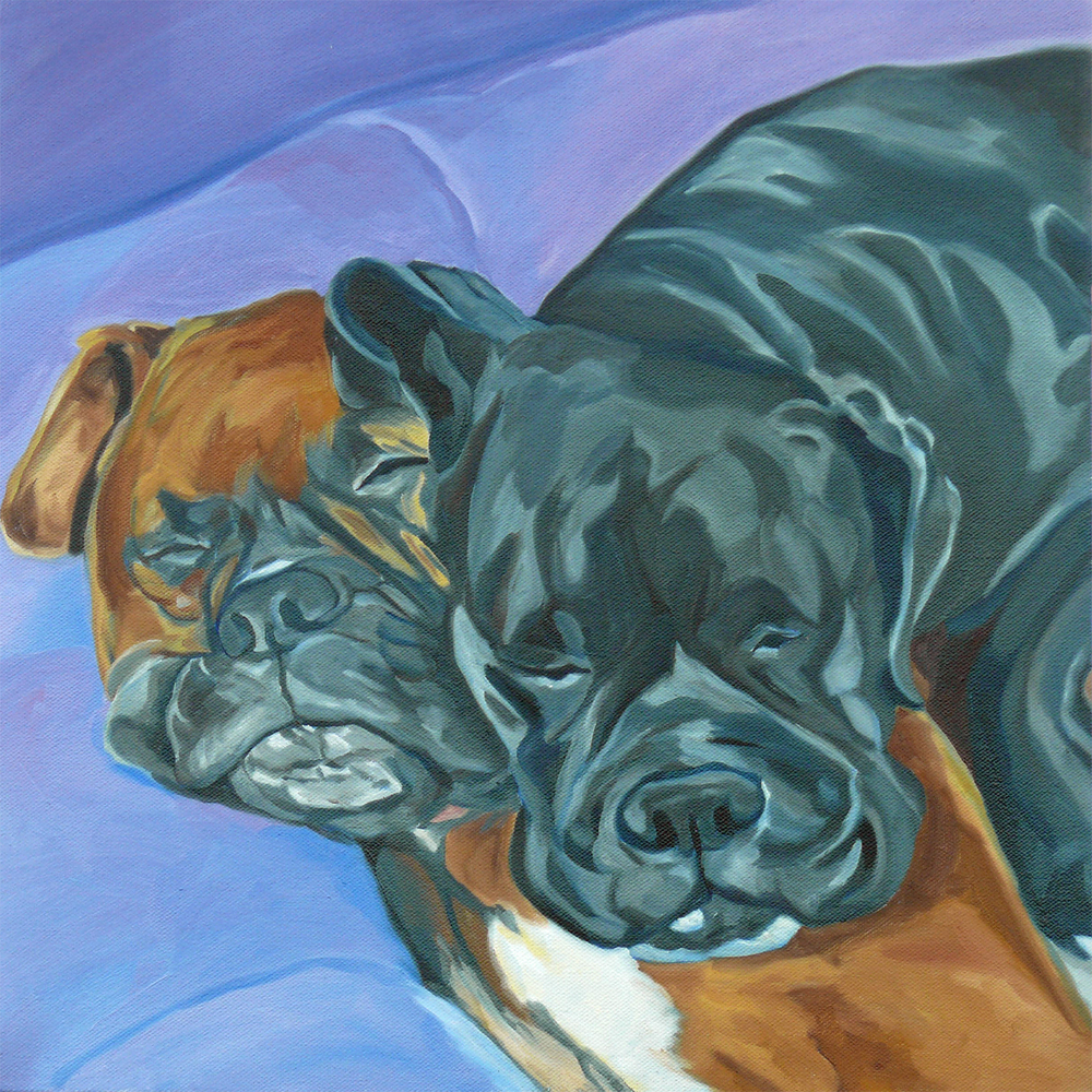 Boxer Buddies Elvis and Sable