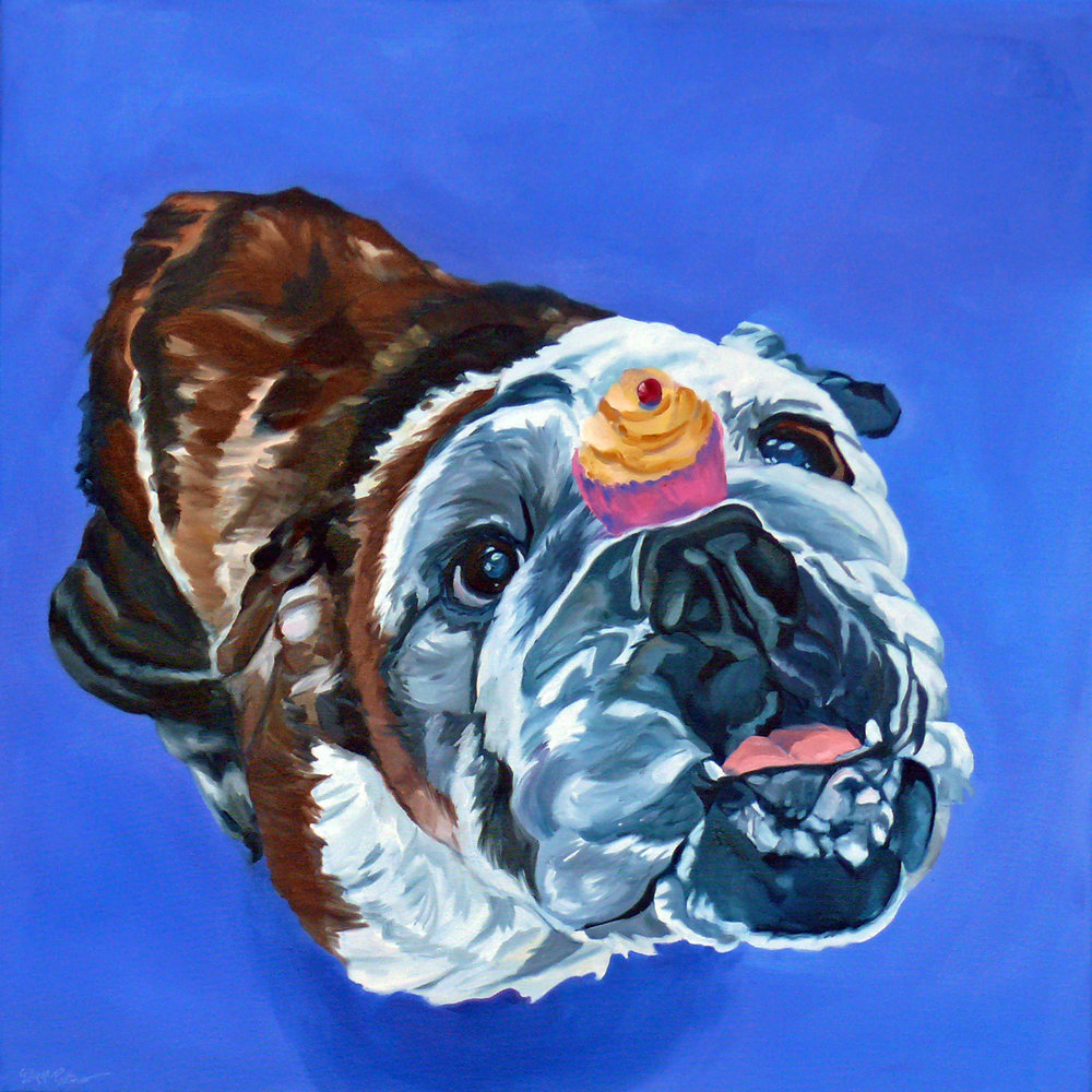 Mille the Bulldog and Her Cupcake Evelyn McCorristin Peters 1500.jpg