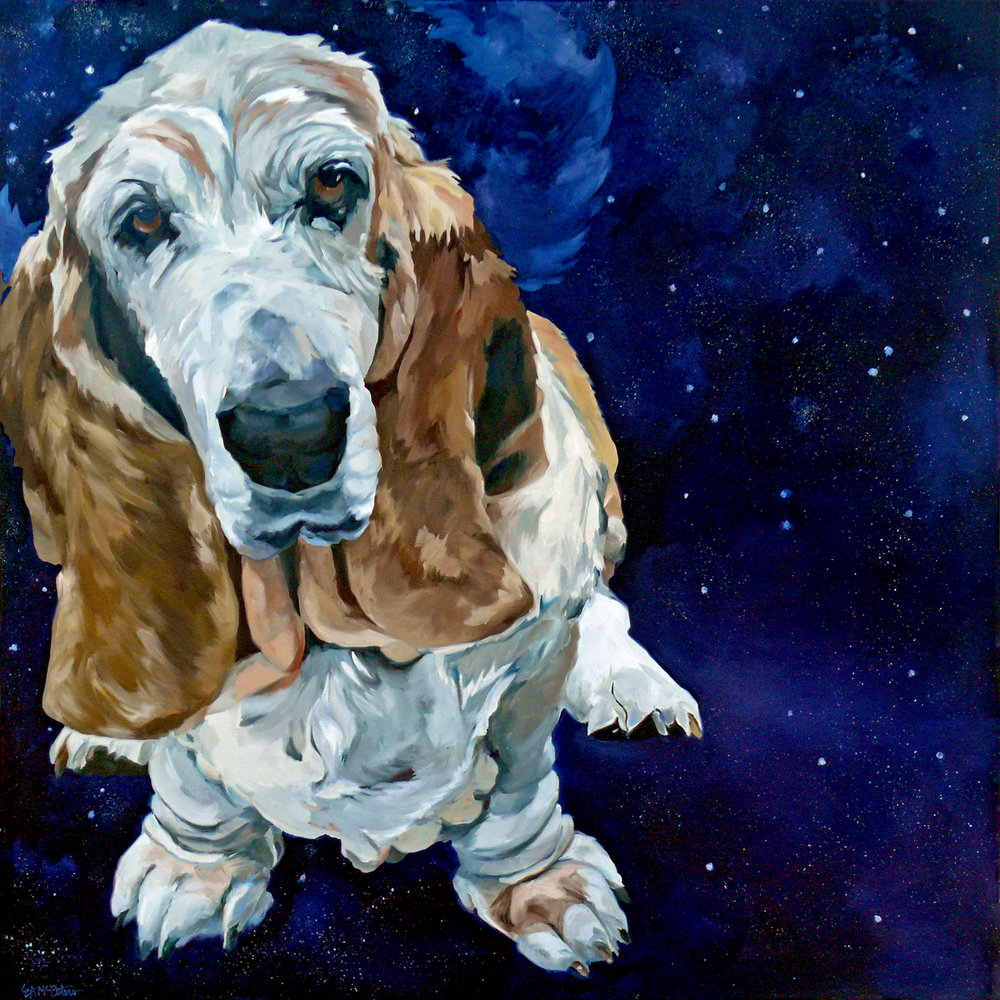 Stickers the Bassett Hound Evelyn McCorristin Peters 1500.jpg