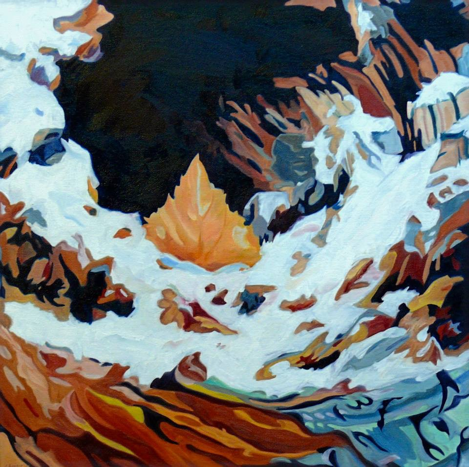 """Zion Leaf Hollow , oil on gallery wrapped canvas, 20X20"""" Evelyn McCorristin Peters,  available"""
