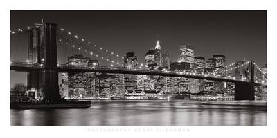 New york artful posters new york city brooklyn bridge 2007 henri silberman 19 34x39 12 malvernweather Gallery