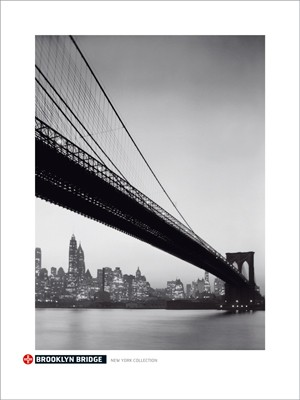 New york artful posters new york city brooklyn bridge anon 31 12x23 58 35dg malvernweather Gallery