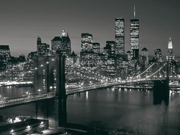 New york artful posters new york city brooklyn bridge henri silberman 23 12x31 12 45d malvernweather Choice Image