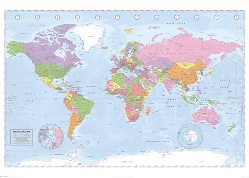 World map political artful posters new york city world map political gumiabroncs Gallery