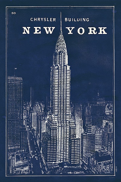 Blueprint map new york chrysler building s1220 artful posters new blueprint map new york chrysler building s1220 malvernweather Gallery
