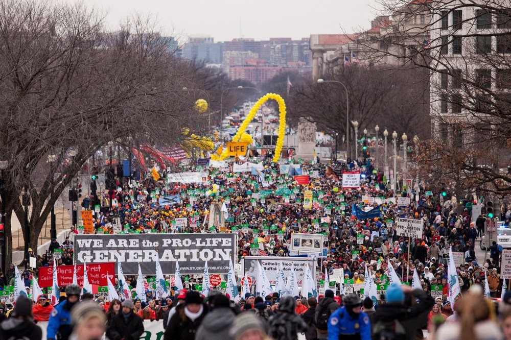 The March for Life in Washington DC.