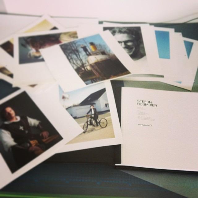 Portfolio printing done! Off to #weitsprung portfolio review @hamburg! #thrilled #upnorth