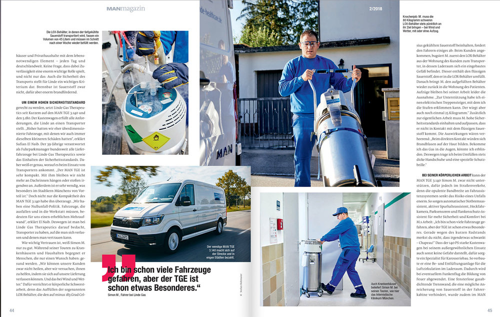 Corporate Reportage for MAN and Linde Healthcare