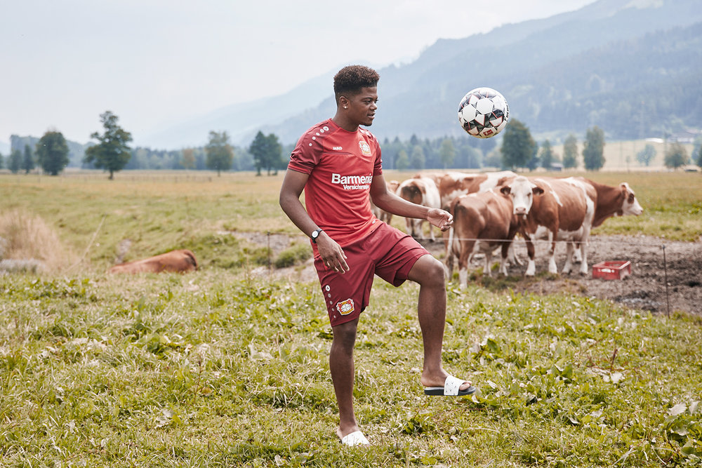 Portrait of Leon Bailey of Bayer Leverkusen