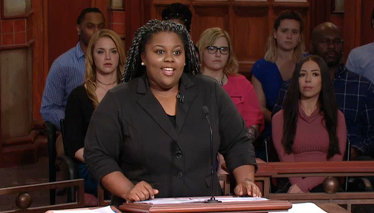 """Watch Monday when a woman sues her former roommate, claiming they were """"friends with benefits."""" He insists she wanted a relationship! Don't miss a minute of this case!"""