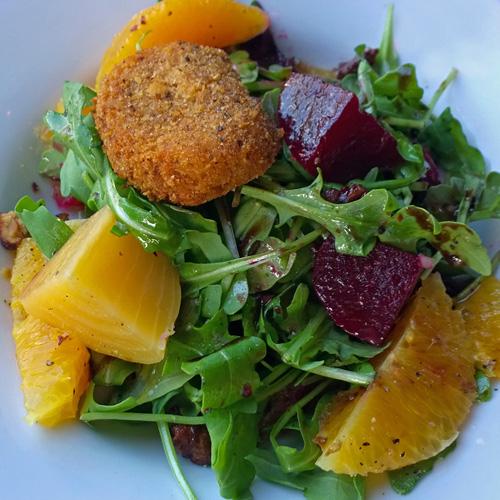 Chaya - slow roasted organic beet salad