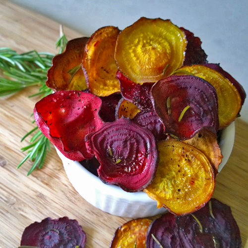Rosemary and Garlic Beet Chips